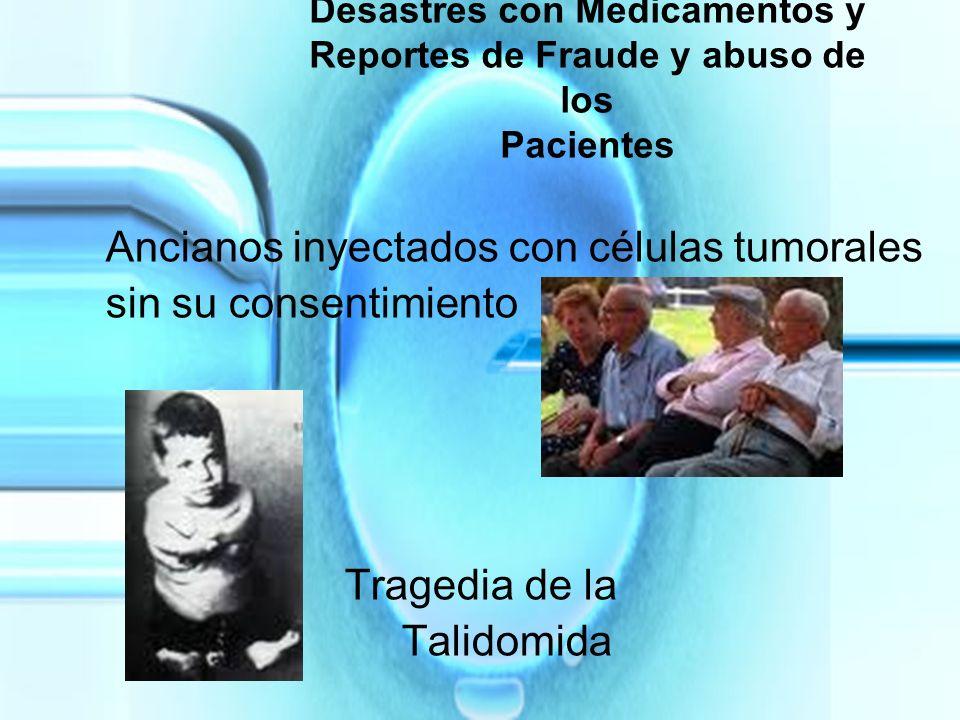Ancianos inyectados con células tumorales sin su consentimiento