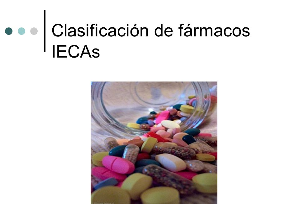 Clasificación de fármacos IECAs
