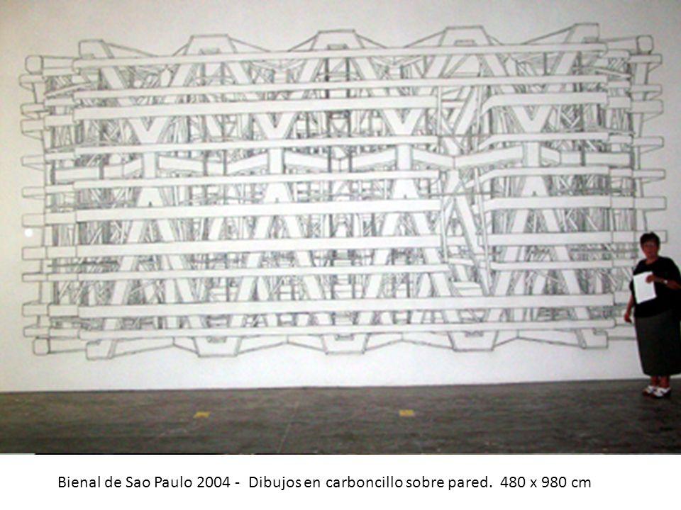 Bienal de Sao Paulo 2004 - Dibujos en carboncillo sobre pared