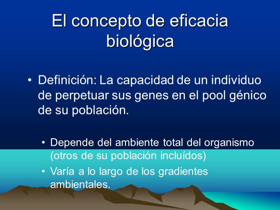 El concepto de eficacia biológica