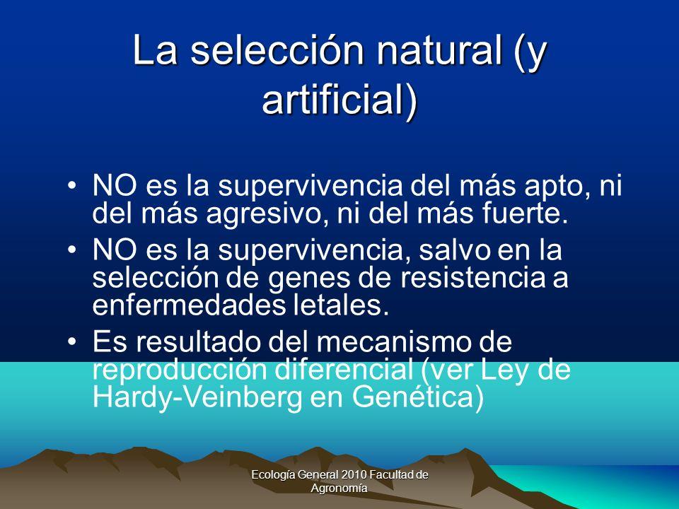 La selección natural (y artificial)