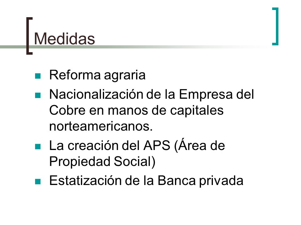 Medidas Reforma agraria