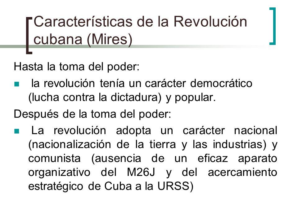 Características de la Revolución cubana (Mires)