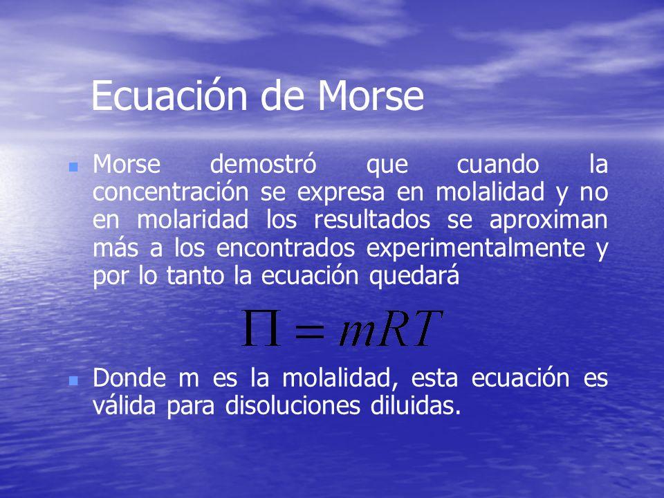 Ecuación de Morse