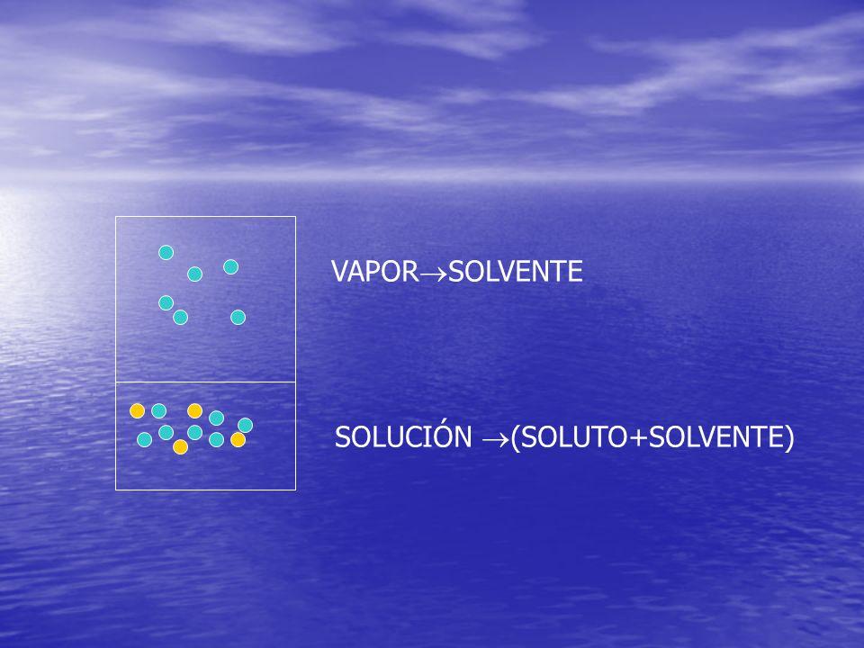 VAPORSOLVENTE SOLUCIÓN (SOLUTO+SOLVENTE)