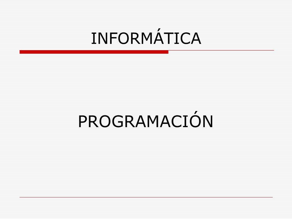 INFORMÁTICA PROGRAMACIÓN