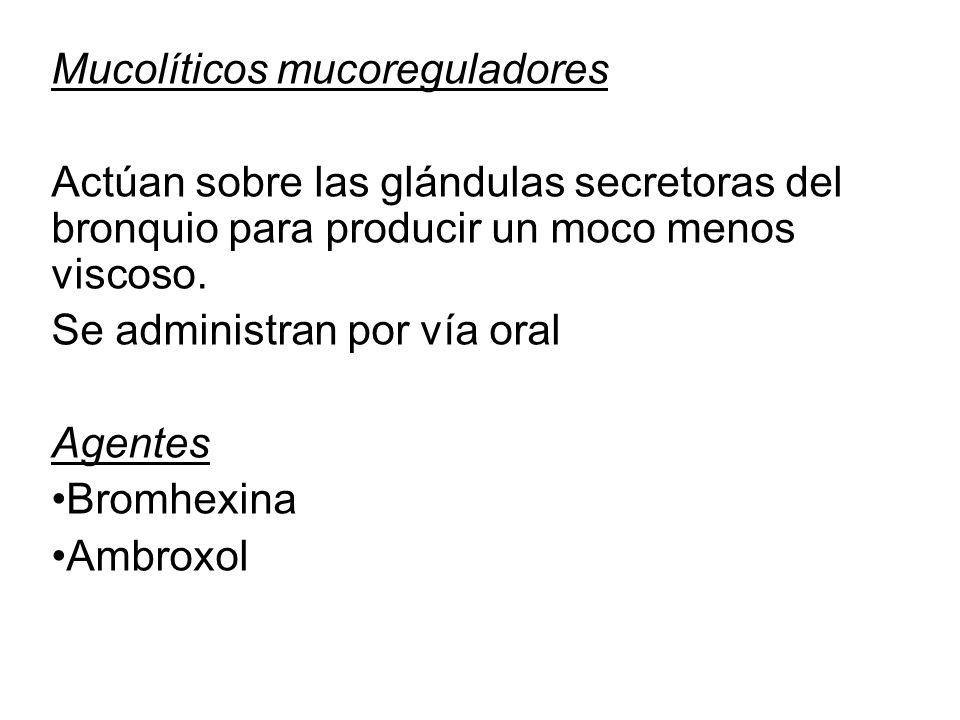 Mucolíticos mucoreguladores