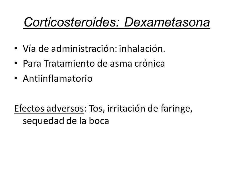 Corticosteroides: Dexametasona