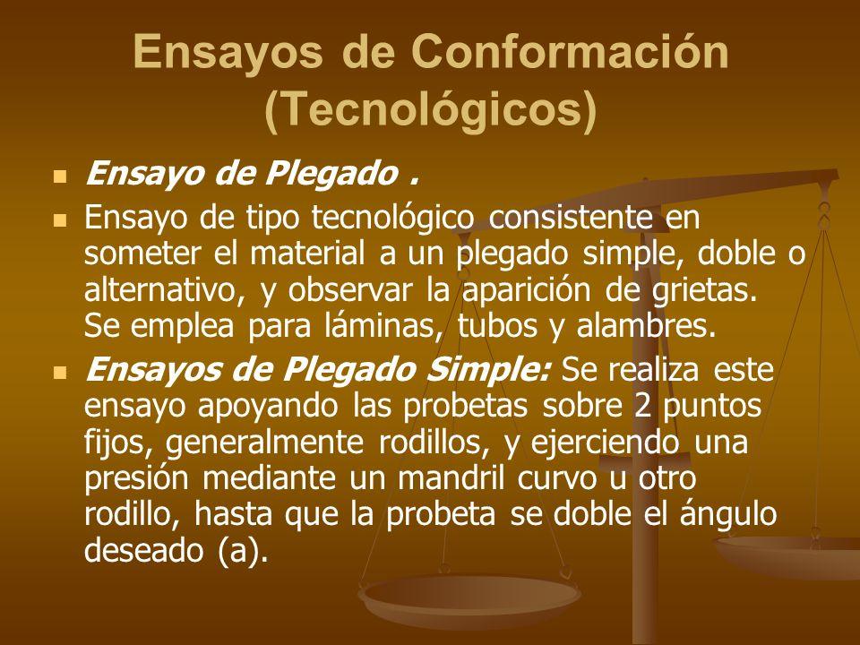 Ensayos de Conformación (Tecnológicos)