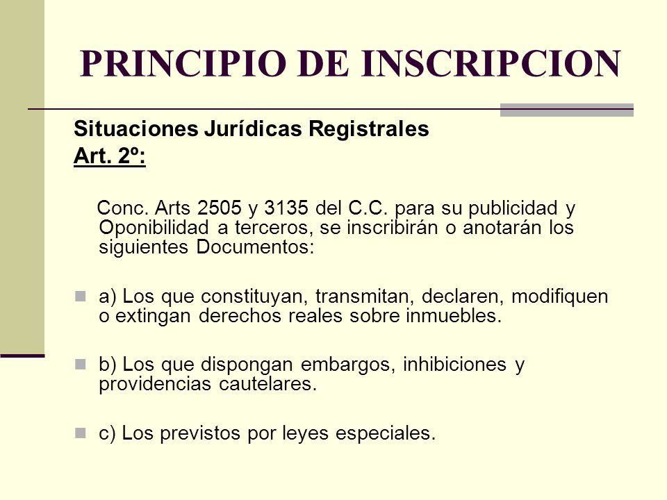 PRINCIPIO DE INSCRIPCION