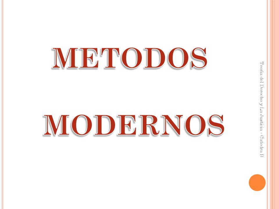 METODOS MODERNOS Teoría del Derecho y La Justicia - Catedra B