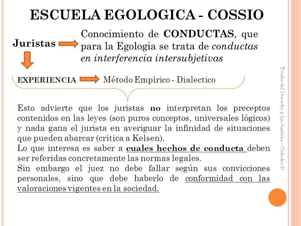 ESCUELA EGOLOGICA - COSSIO