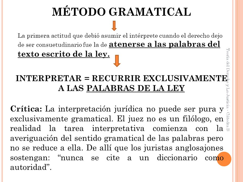 INTERPRETAR = RECURRIR EXCLUSIVAMENTE
