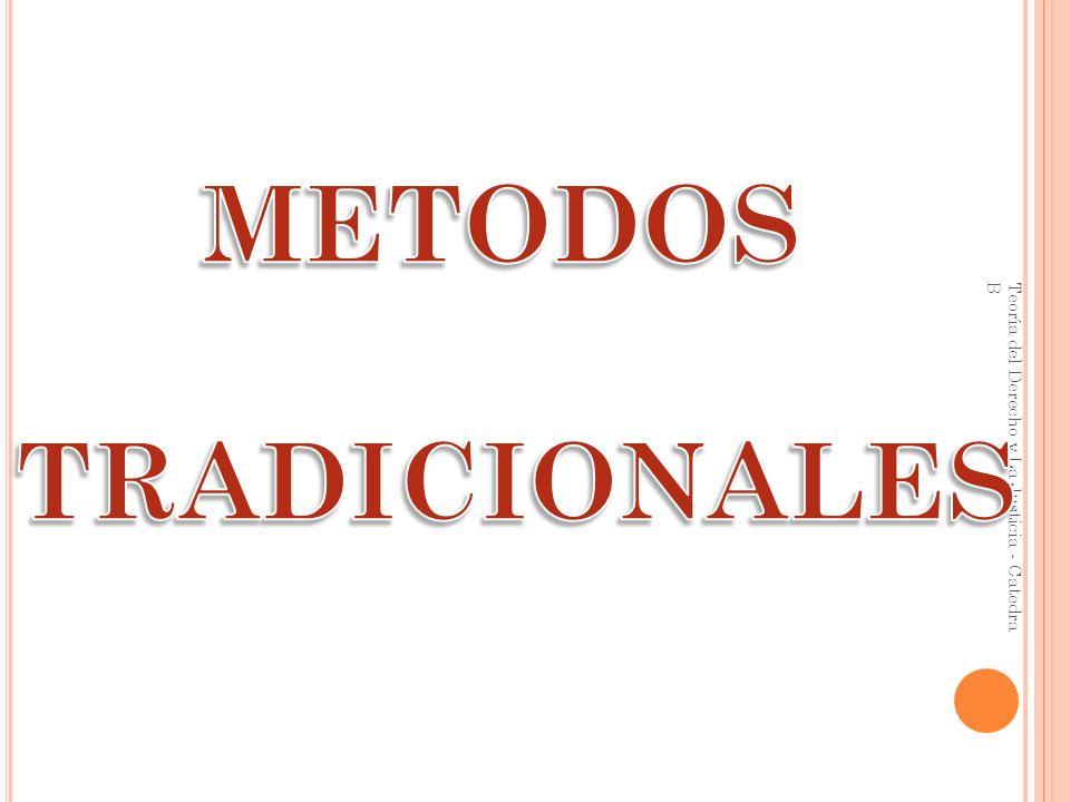 METODOS TRADICIONALES