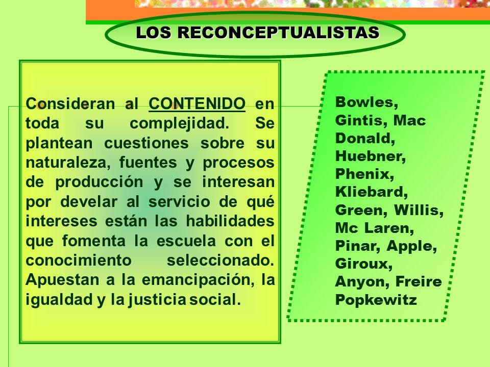 LOS RECONCEPTUALISTAS