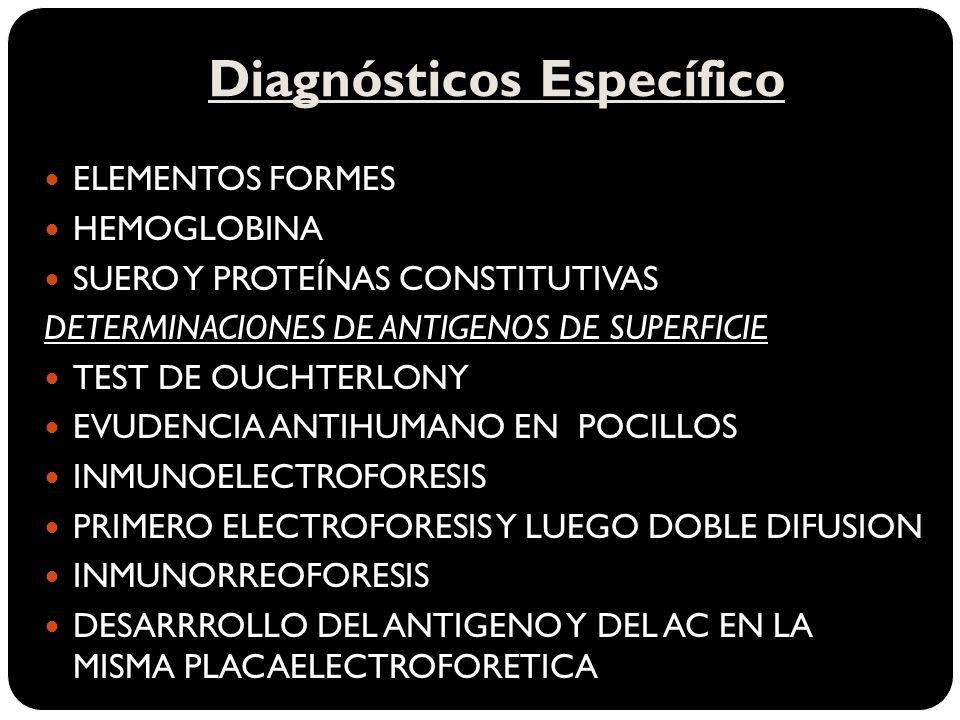 Diagnósticos Específico
