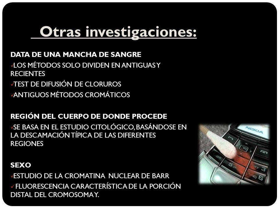Otras investigaciones: