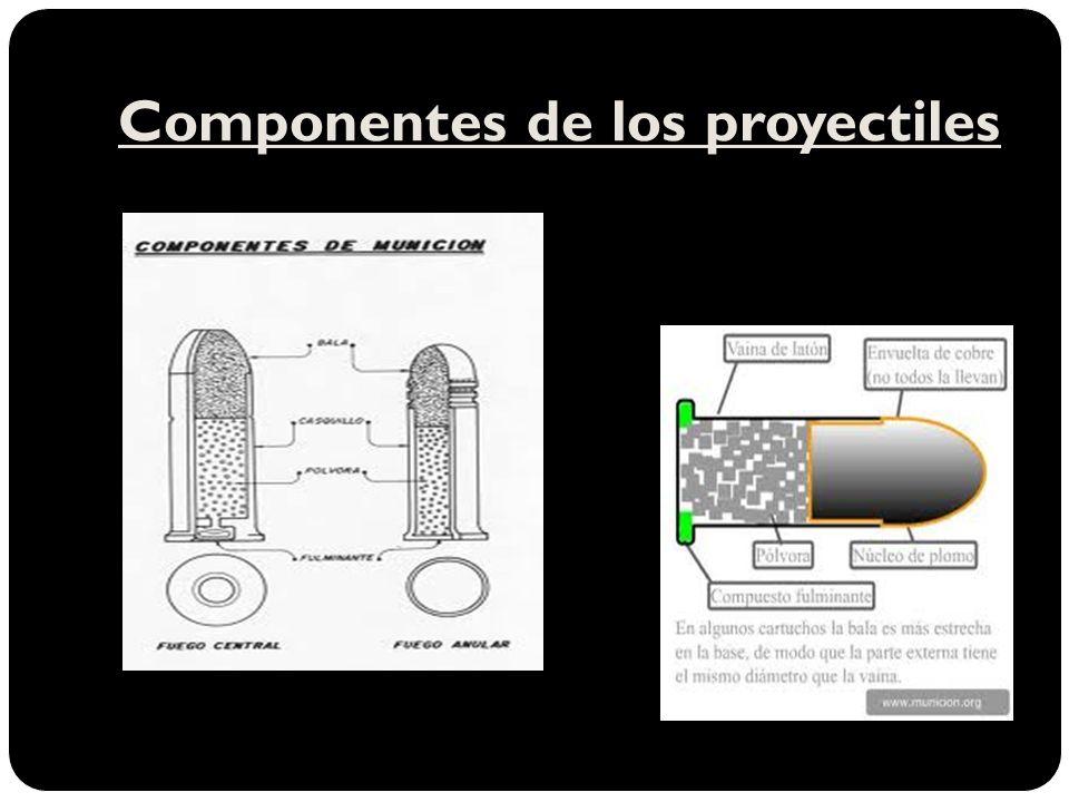 Componentes de los proyectiles