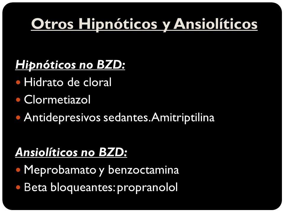 Otros Hipnóticos y Ansiolíticos