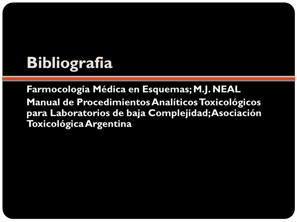 Bibliografia Farmocología Médica en Esquemas; M.J. NEAL