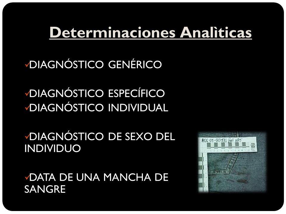 Determinaciones Analìticas