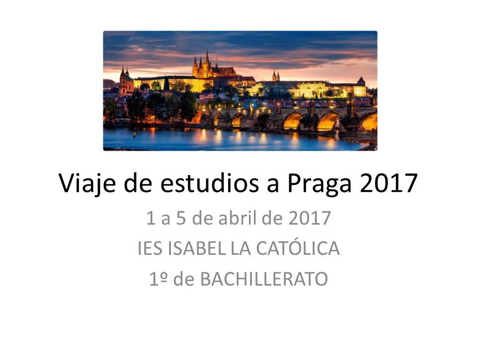 Viaje de estudios a Praga 2017