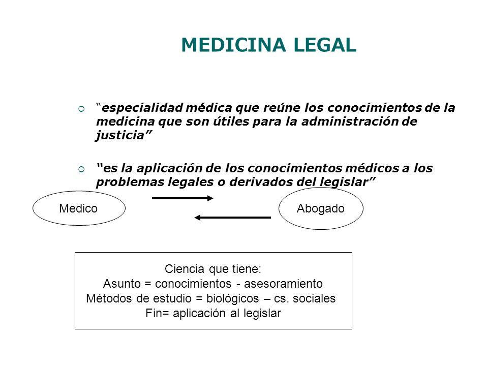 MEDICINA LEGAL Abogado Medico Ciencia que tiene: