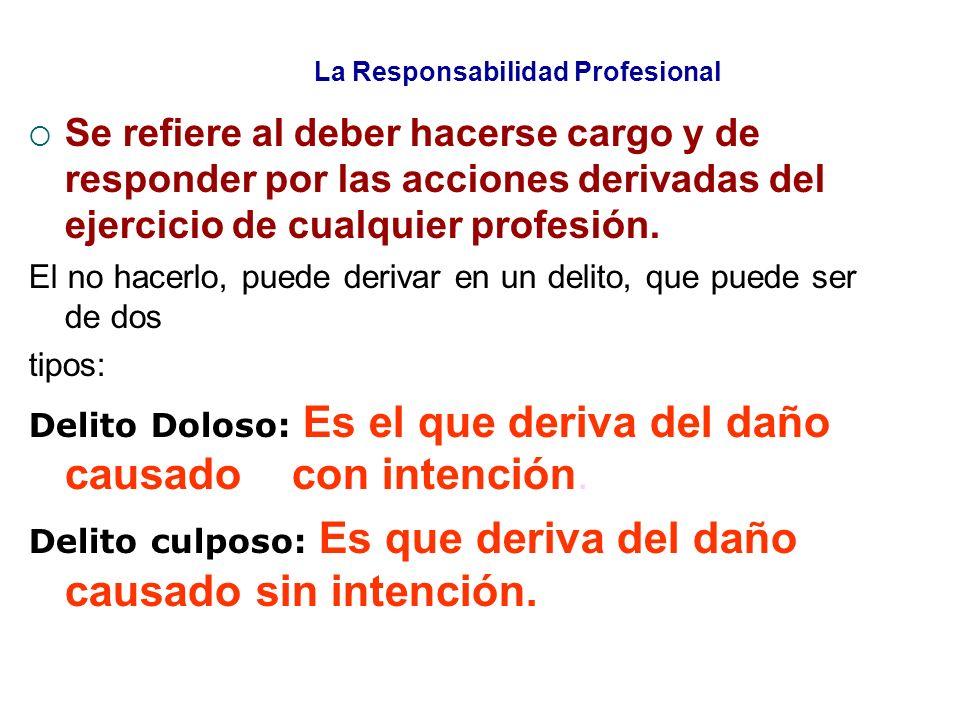 La Responsabilidad Profesional
