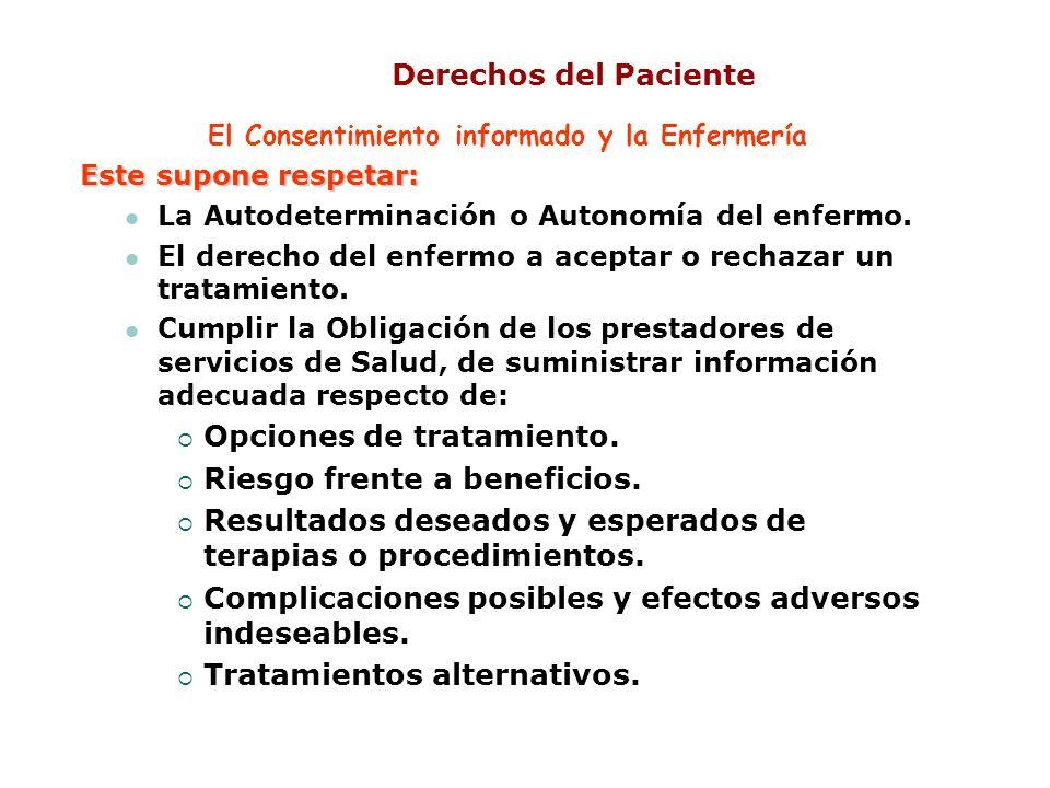 El Consentimiento informado y la Enfermería
