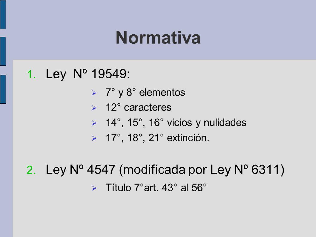 Normativa Ley Nº 19549: Ley Nº 4547 (modificada por Ley Nº 6311)