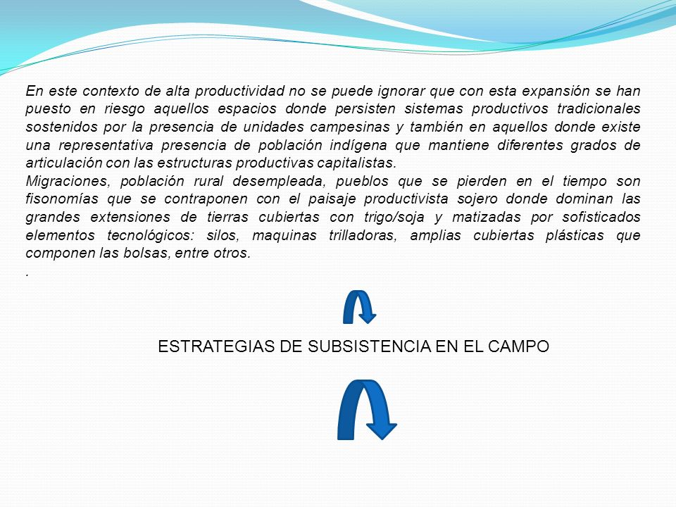 ESTRATEGIAS DE SUBSISTENCIA EN EL CAMPO