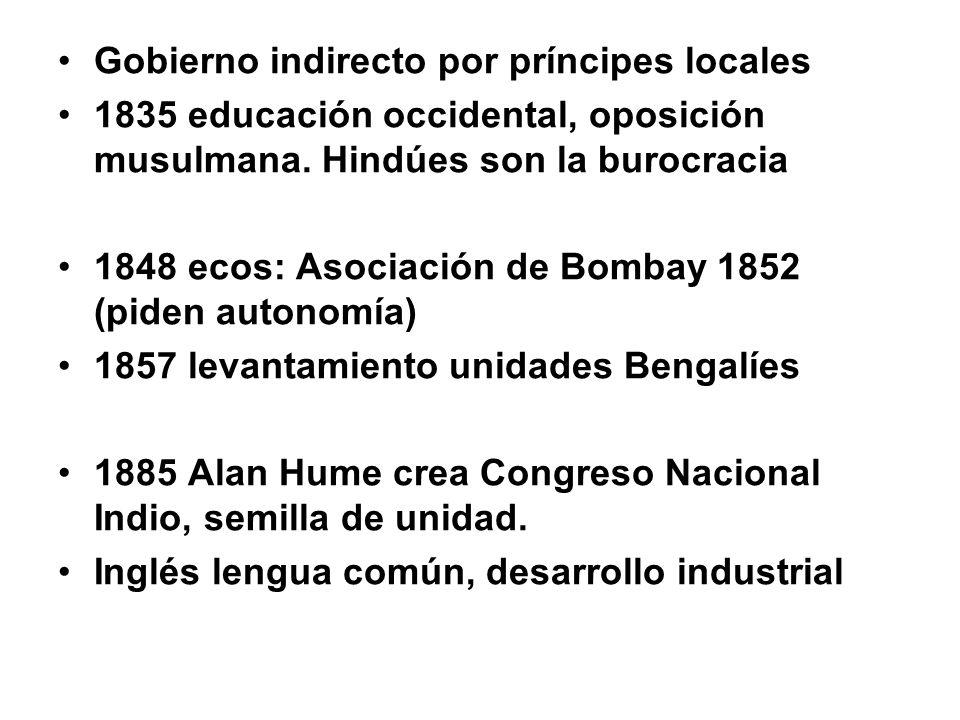 Gobierno indirecto por príncipes locales