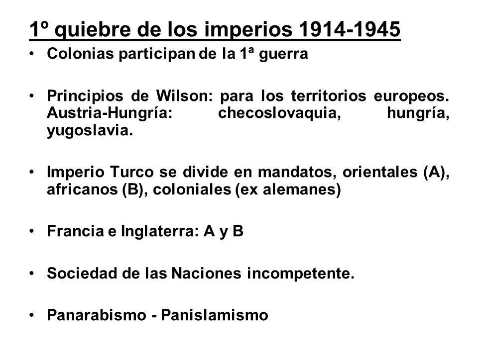 1º quiebre de los imperios 1914-1945