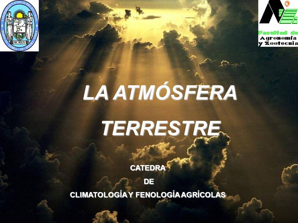 CLIMATOLOGÍA Y FENOLOGÍA AGRÍCOLAS