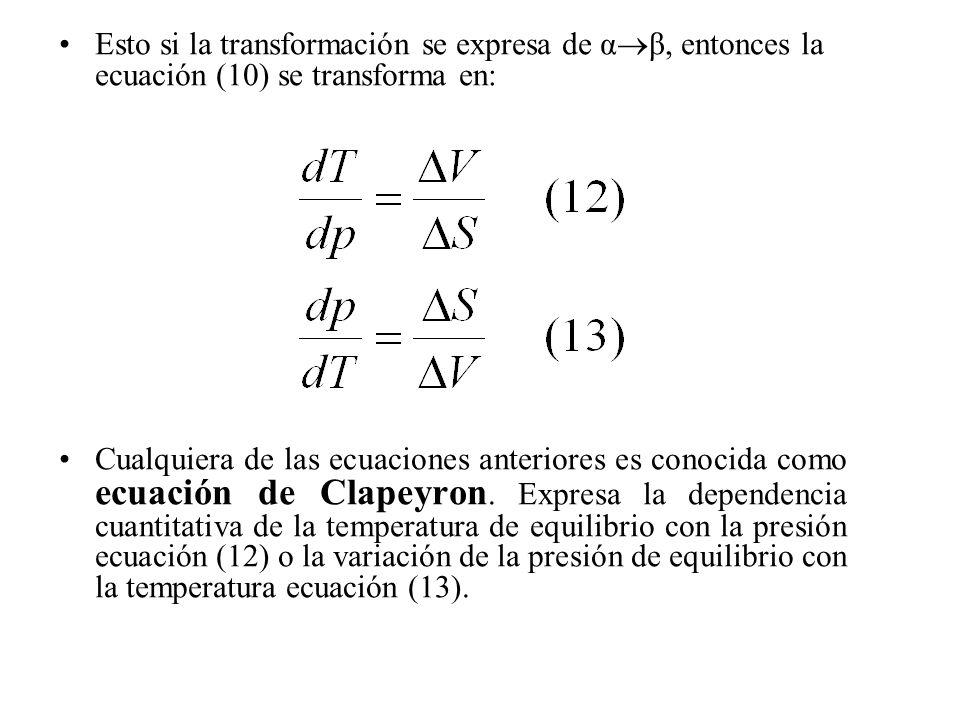 Esto si la transformación se expresa de αβ, entonces la ecuación (10) se transforma en: