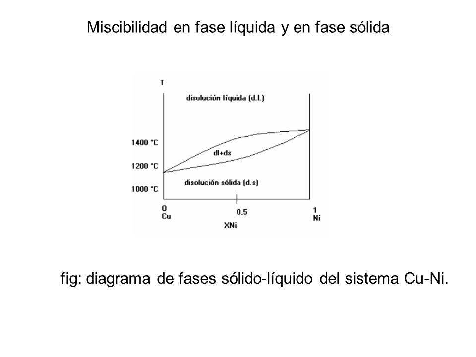 Miscibilidad en fase líquida y en fase sólida