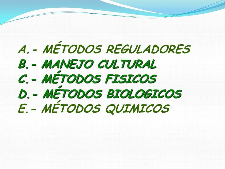 A.- MÉTODOS REGULADORES