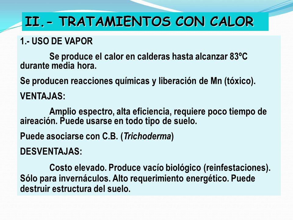 II.- TRATAMIENTOS CON CALOR