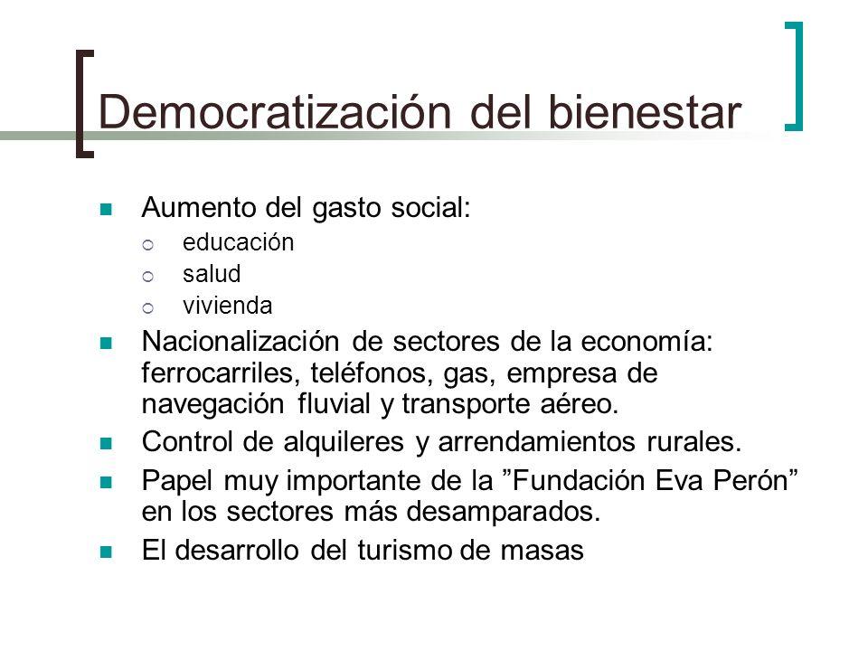 Democratización del bienestar