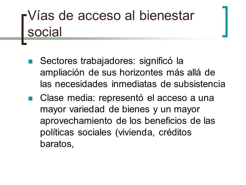 Vías de acceso al bienestar social