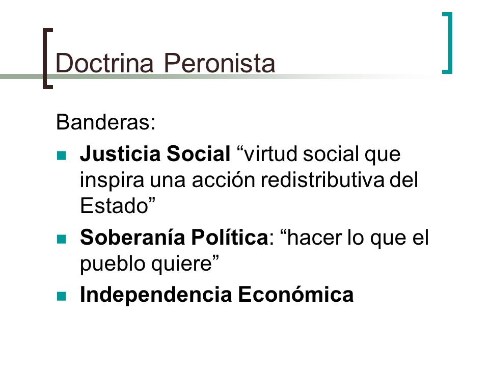 Doctrina Peronista Banderas: