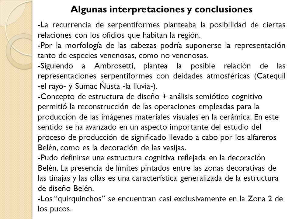 Algunas interpretaciones y conclusiones