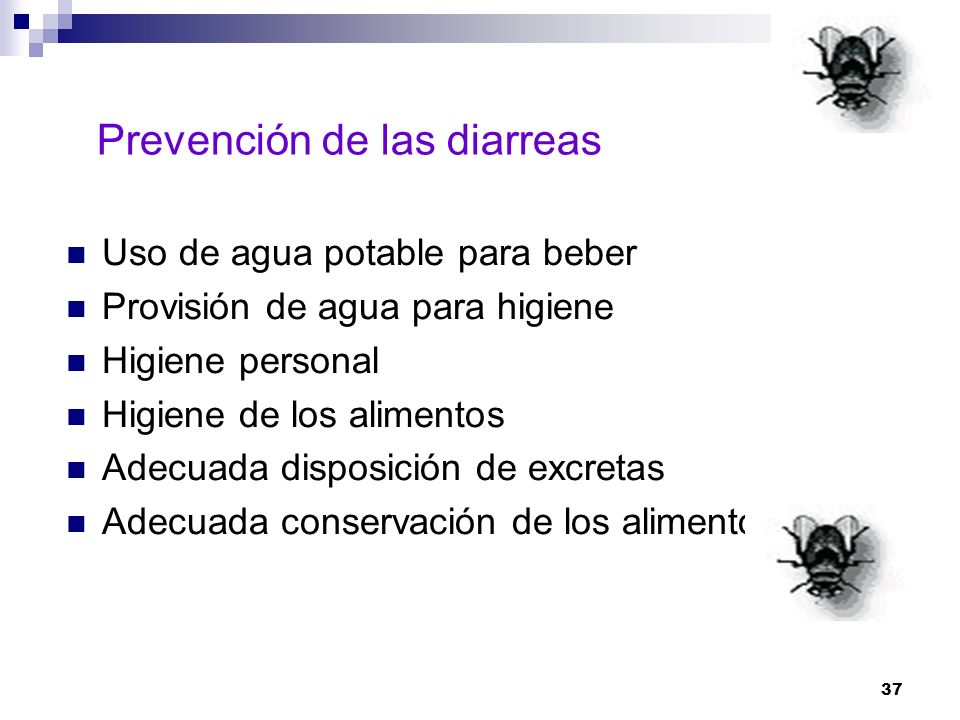 Prevención de las diarreas