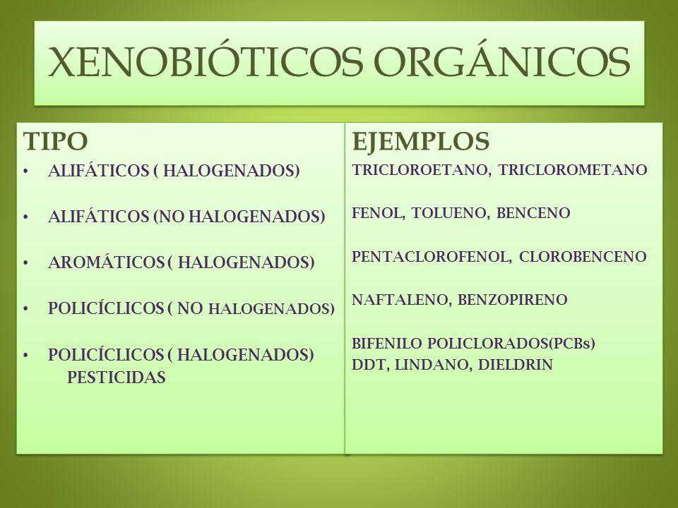 XENOBIÓTICOS ORGÁNICOS