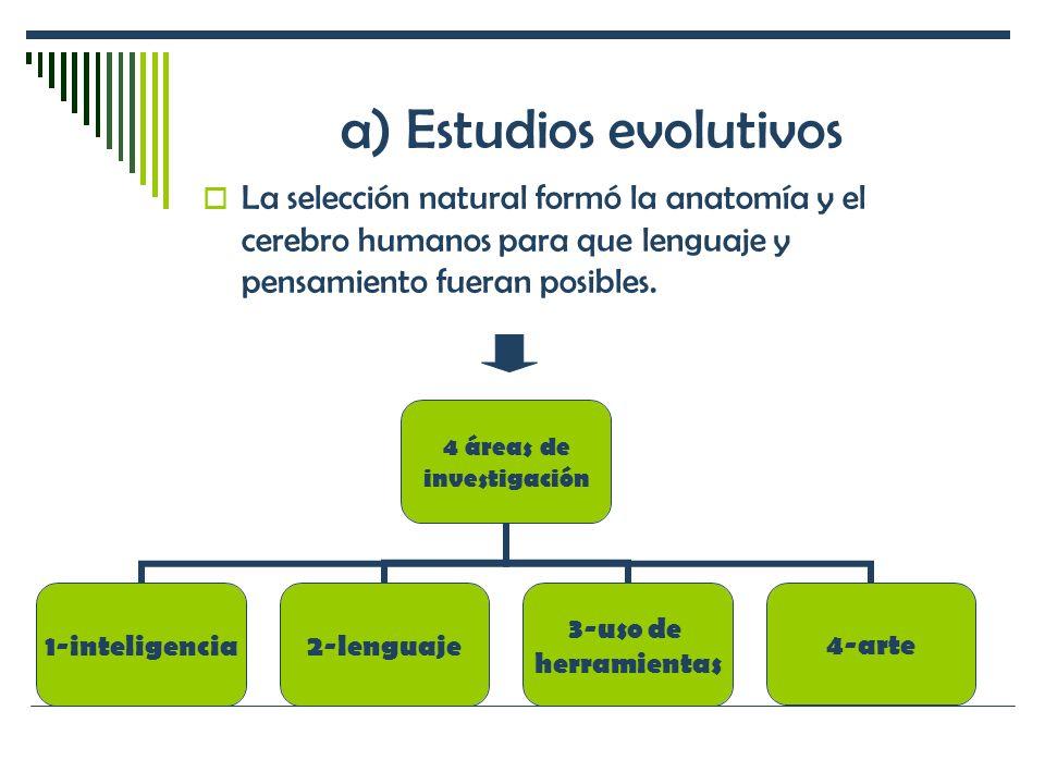 a) Estudios evolutivos