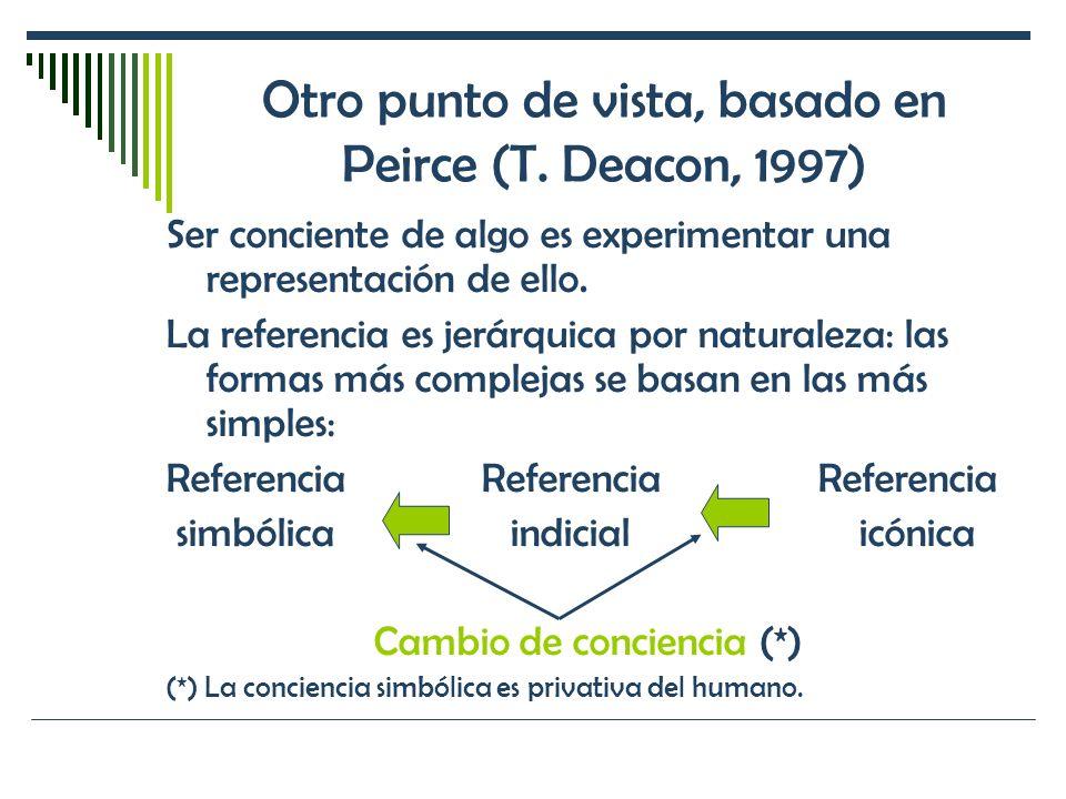 Otro punto de vista, basado en Peirce (T. Deacon, 1997)