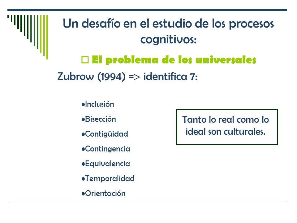 Un desafío en el estudio de los procesos cognitivos: