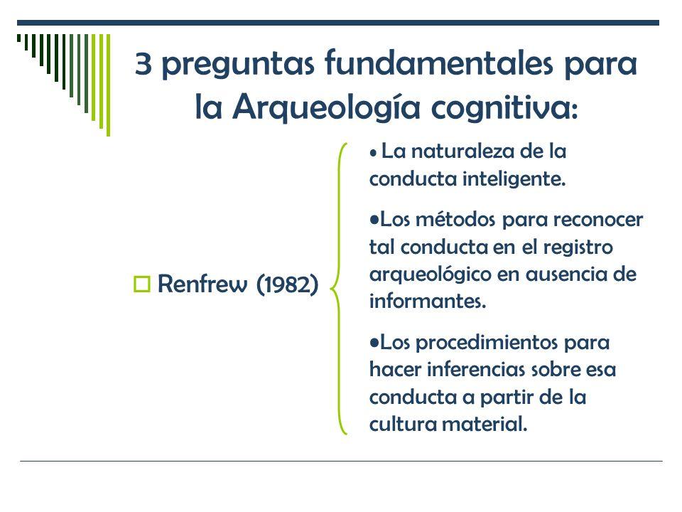 3 preguntas fundamentales para la Arqueología cognitiva: