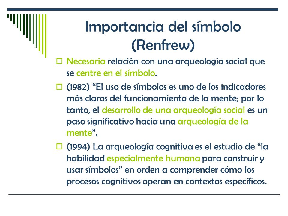 Importancia del símbolo (Renfrew)