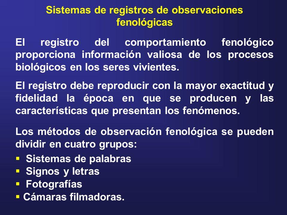 Sistemas de registros de observaciones fenológicas
